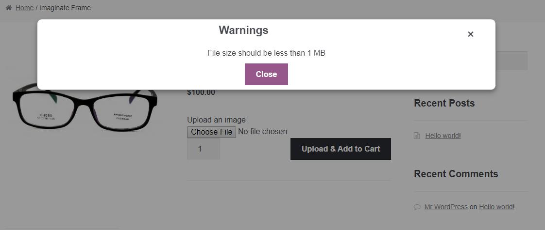 File Size Errors